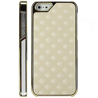 Plastic cover skin with Golden lozenges-iPhone 5 (cream)