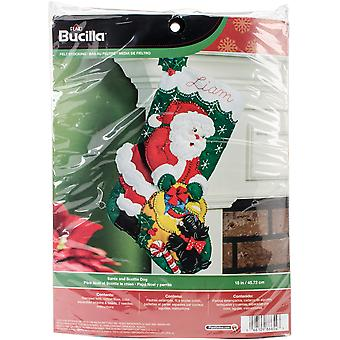 Santa And Scottie Dog Stocking Felt Applique Kit-18