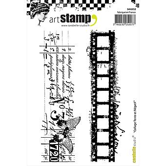 Carabelle Studio Cling Stamp A6-Text & Negative Film Collage SA60052