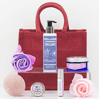 Luscious Lavender Face Gift Bag - Luxury Beauty Skincare Gift Bag Set