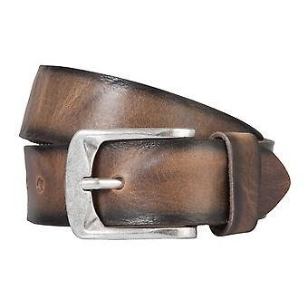 BERND GÖTZ belt leather men's belts leather belt Brown/mud + shortened 164