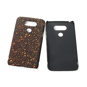 Cell phone cover case bumper shell for LG G5 3D star Orange