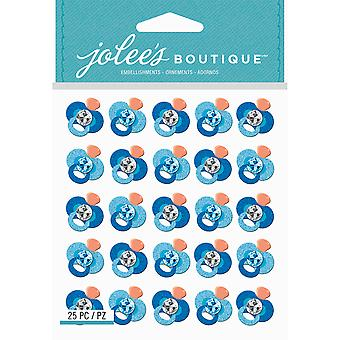 Jolee's Boutique Dimensional Stickers-Blue Glitter Pacifier E5021930
