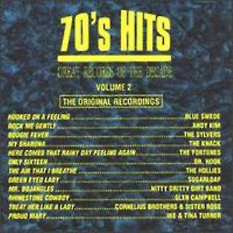 Stor poster av decenniet - Great Records av decenniet: Vol. 2-70-talet Hits [CD] USA import