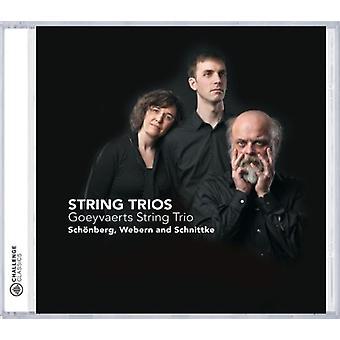 Goeyvaerts streng Trio - Sch Nberg, Webern, Schnittke: Streng trioer [CD] USA import