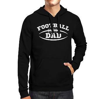 Football Dad Men Black Funny Design Hoodie For Football Fan Dad