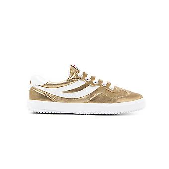 Women's 2832 Cotmetw Metallic & Canvas Trainers - Gold