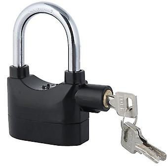 TRIXES 110db Alarmed Heavy Duty Weatherproof Long Shackle Padlock