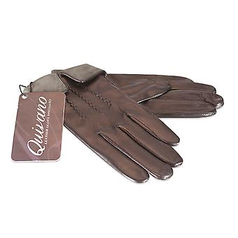 Quivano Ladies Real Leather Gloves Fleece Lined Turn Down Cuff Womens 310-200