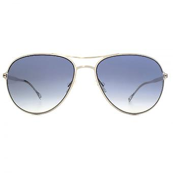 Paul Smith Surrey Sunglasses In Brushed Silver Pacific Gradient