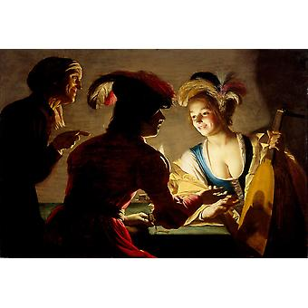 Gerard van Honthorst - The procuress Poster Print Giclee