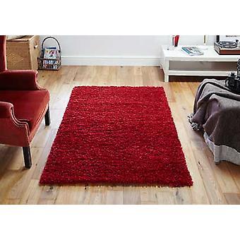 Elsa Red  Rectangle Rugs Plain/Nearly Plain Rugs