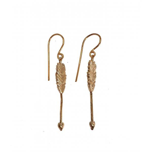 W.A.T Gold Plated Sterling Silver Cupid Bow And Arrow Earrings
