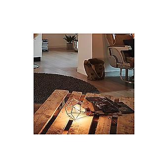 Eglo Tarbes Vintage geometrische Kupfer Tisch Lampe Käfig
