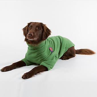 Ginger Ted Cosy Fleece Warm Dog Jumper  Green (6 sizes)