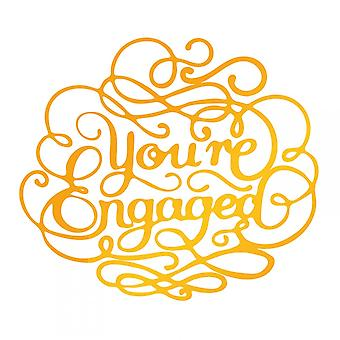 Couture Creations Ultimate Crafts Hotfoil Stamp Die You're Engaged
