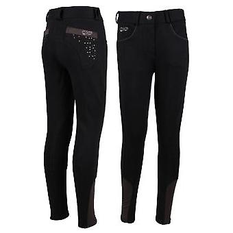 QHP Pant Junior Black Pearl (Horses , Rider equipment , Clothes , Trousers)