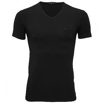 Ermenegildo Zegna Stretch bomuld v-hals T-Shirt, Navy