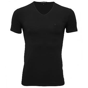 Ermenegildo Zegna Stretch Cotton V-Neck T-Shirt, Navy