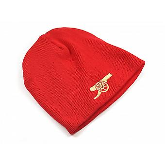 Arsenal FC Official Football Core Cannon Emblem Beanie Hat