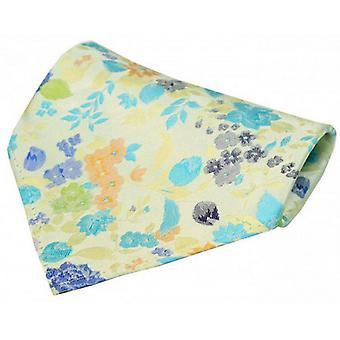 Posh and Dandy Flowers Pocket Square - Yellow/Blue