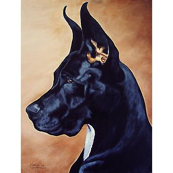 Carolines Treasures  AMB1041CHF Black Great Dane Flag Canvas House Size