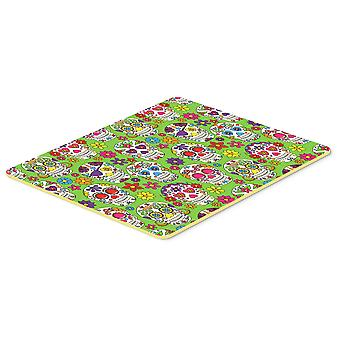 Carolines Treasures  BB5117CMT Day of the Dead Green Kitchen or Bath Mat 20x30