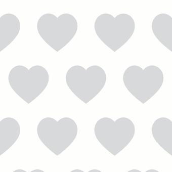 Sweetheart Silver Wallpaper Arthouse Love Hearts Glitter Textured Luxury White