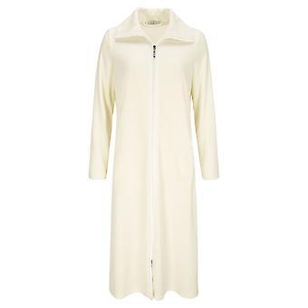 Feraud 3883036-10044 Women's Champagne White Cotton Robe Loungewear Bath Dressing Gown