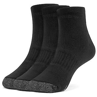 Galiva Boys' Cotton Extra Soft Ankle Cushion Socks - 3 Pairs