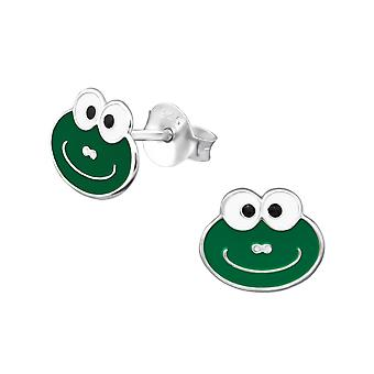 Frog - 925 Sterling Silver Colourful Ear Studs - W31105x