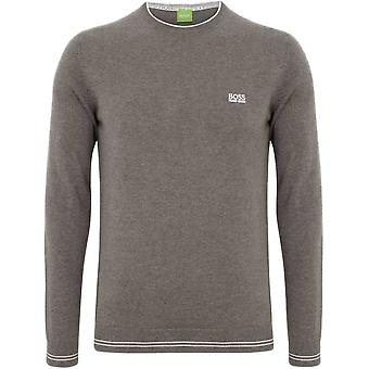 Hugo Boss Green Rime Bomuldsblanding Fit Regular grå Jumper