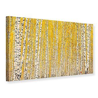Canvas Print The Birch Forest In Autumn