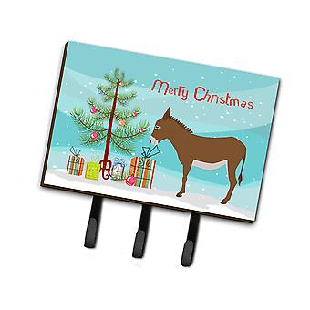 Carolines Treasures  BB9216TH68 Cotentin Donkey Christmas Leash or Key Holder