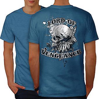 Lord Of Vengeance Skull Men Royal BlueT-shirt Back | Wellcoda