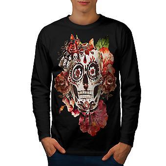 Day Dead Sugar Rock Men BlackLong Sleeve T-shirt | Wellcoda