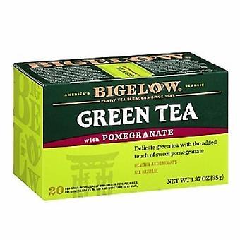 Bigelow granatäpple grönt te 20 tepåse Box