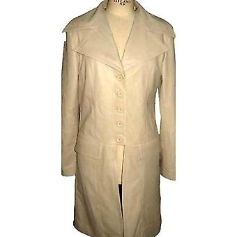 Ladies Bella Trench Coat - Bone White