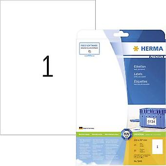 Herma 5065 Labels (A4) 210 x 297 mm Paper White