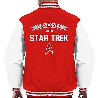 Obsessed With Star Trek Men's Varsity Jacket