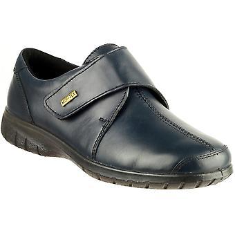 Cotswold Ladies Cranham Touch Fastening Leather Waterproof Shoe Navy