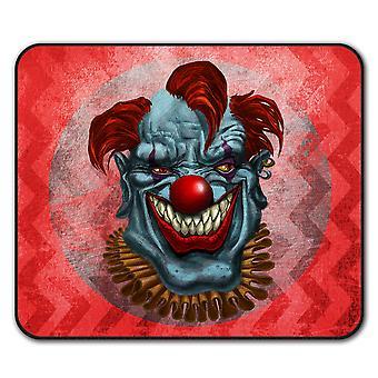 Tapis de souris d'anti-dérapant effrayant pour le Clown horreur effrayant Pad 24 x 20 cm | Wellcoda