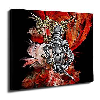 Moda elegante cavaliere parete arte tela 50 x 30 cm | Wellcoda