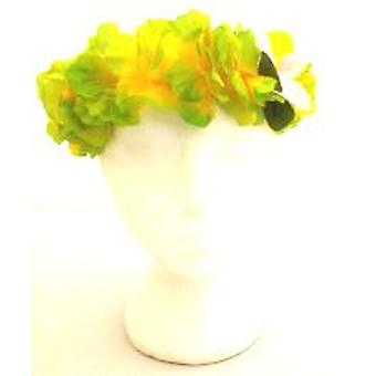 Collares de flores diadema Superior - verde