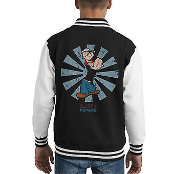Popeye Retro japońskich Kid uniwerek kurtka