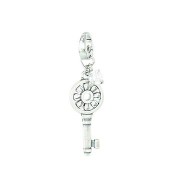 Fossil pendants charms JF87633040 key with Zyrkonia