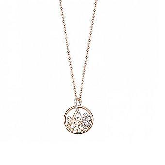 ESPRIT women's chain necklace silver Rosé Elicate bouquet ESNL93178A420