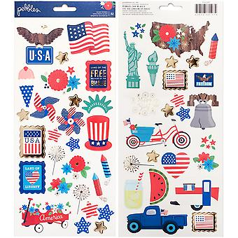 America The Beautiful Cardstock Stickers 6