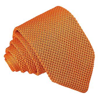 Mandarine gestrickte schmale Krawatte