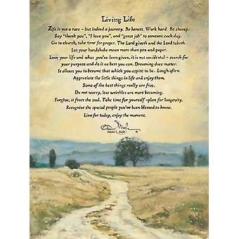 Living Life Poster Print by Bonnie Mohr (18 x 24)
